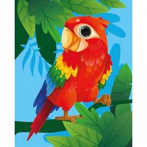 Алмазная мозаика для детей «Яркий попугай» 20х25 см