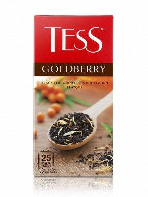 Чай Tess черный байховый, цукаты облепихи и айва, лепестки календулы, яблоко.  Goldberry, 25 пак