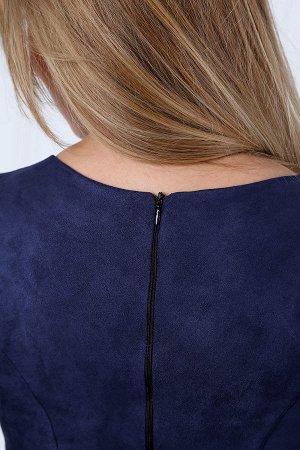 Платье футляр с квадратной горловиной П 230 (Индиго)
