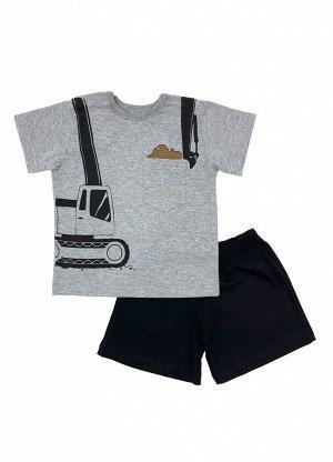 Комплект Кулирка 100% хлопокЛетний комплект из рубашечкии шорт. Рубашечка с кармашком.