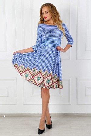 Платье из масла П 158 (Синее)