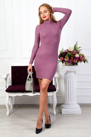 Платье водолазка П 223 (Сиреневая)