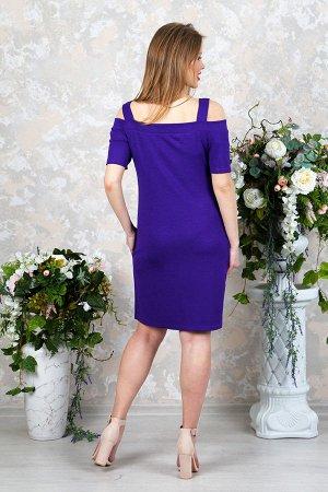 Платье футляр с карманами П 218 (Фиолетовое)