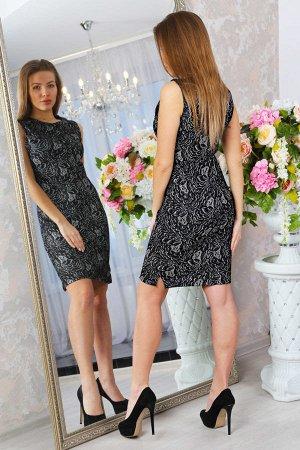 Платье футляр П 183 (Чёрный)