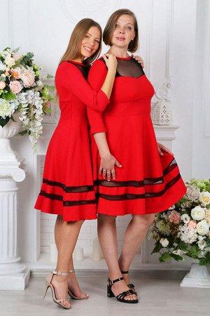 Платье П 171 (Красное)