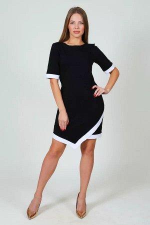 Платье с углом на подоле П 045 (черное)