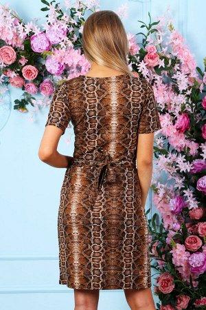 Платье на запах П 224 (Коричневое)
