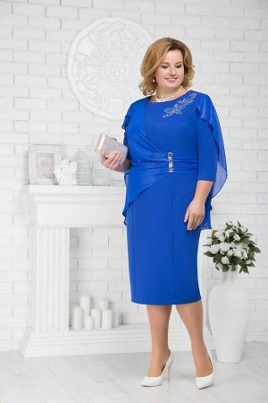 Платье Ninele 5675 василек