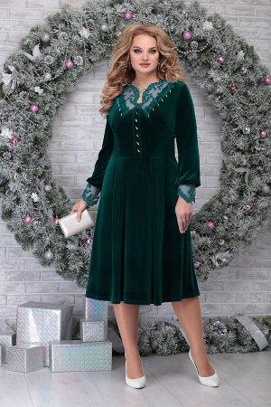 Платье Ninele 5818 изумруд