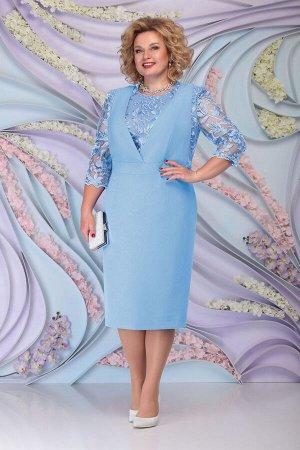 Платье Ninele 7294 голубой