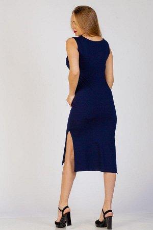 Платье-туника П 275 (Темно-синяя кошка)