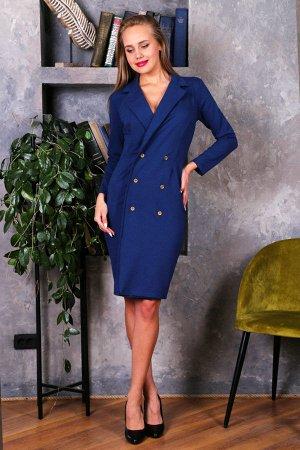 Платье-пиджак П 174 (Индиго)