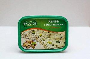 Халва кунжутная Ekovita с фисташками 250 гр