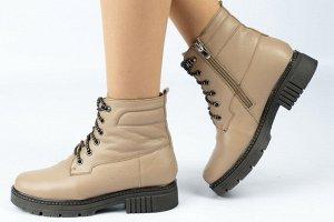 Ботинки Тип: ботинки и ботильоны Подошва: ТЭП  Вид застежки: молния и шнурки Верх: натуральная кожа или нубук