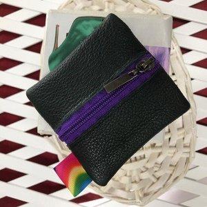 Миниатюрный женский кошелек Mini из натуральной кожи.
