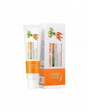 Питательный, осветляющий крем для лица с экстрактом моркови 60мл,Farm Stay Super food Carrot Cream