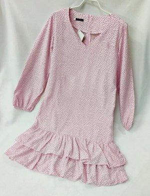 Платье Замеры по изделию: ОГ 88, длина 97 Цвет нежно-розовый, доп. фото