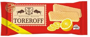 """Вафли """"Лимонные"""" 160г TOREROFF"""