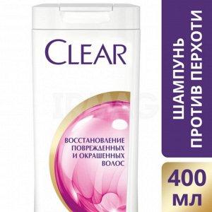 Шампунь Clear Восстановление поврежденных и окрашенных волос 400мл.