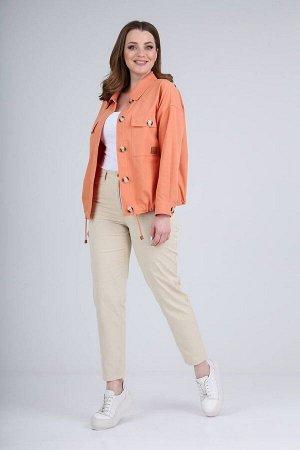 Брюки, куртка Verita 2094 кораллово-оранжевый/кремовый