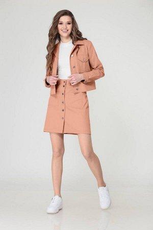 Куртка, топ, юбка Verita 2098 кораллово-оранжевый