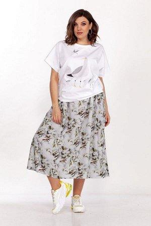 Блуза, юбка ELLETTO 5135 белый