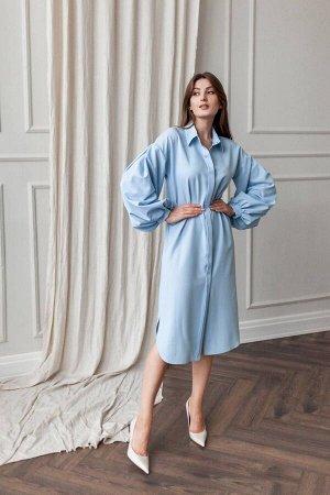 Платье KRASA 238-21 голубой