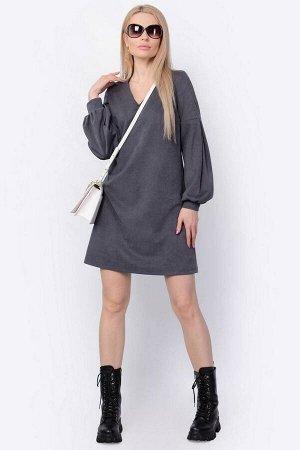 Платье PATRICIA by La Cafe F15013 темно-серый