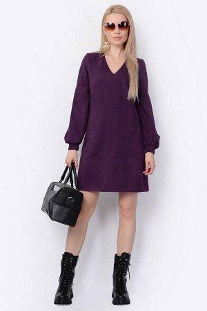 Платье PATRICIA by La Cafe F15013 баклажановый