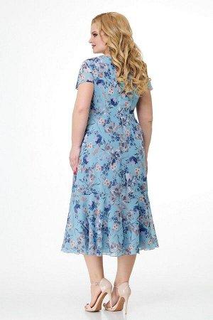 Жакет, платье Slaviaelit 166-2 небесно-голубой