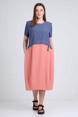 Платье ELGA 01-701/1 коралл