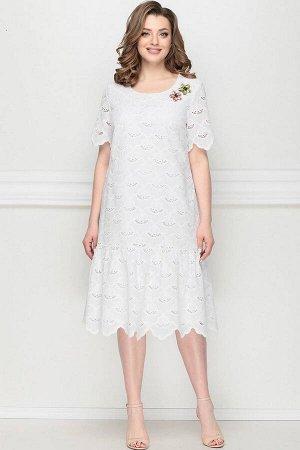 Платье LeNata 11202 белый