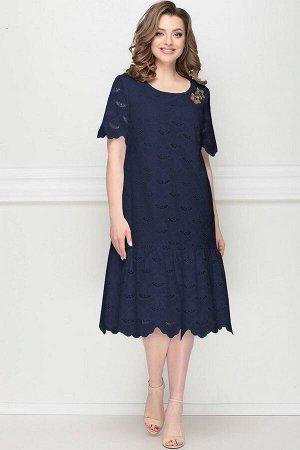 Платье LeNata 11202 темно-синий