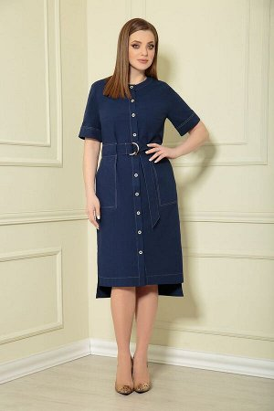 Платье Andrea Style 0362/12 синий