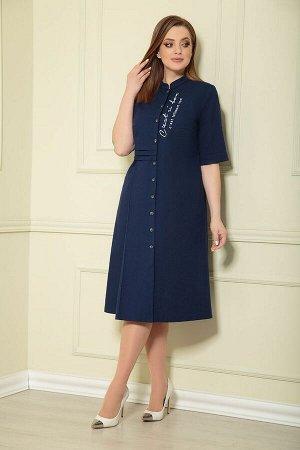 Платье Andrea Style 0361/12 синий
