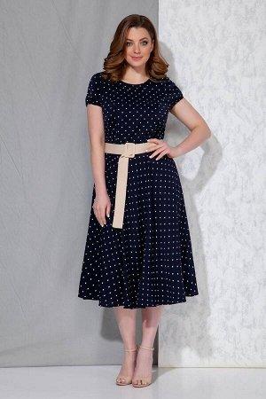 Жакет, платье Beautiful&Free 4055 молочный+синий