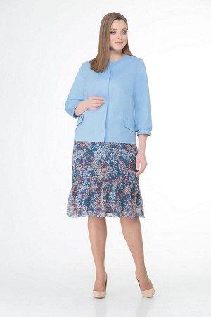 Жакет, платье VOLNA 1189 голубой