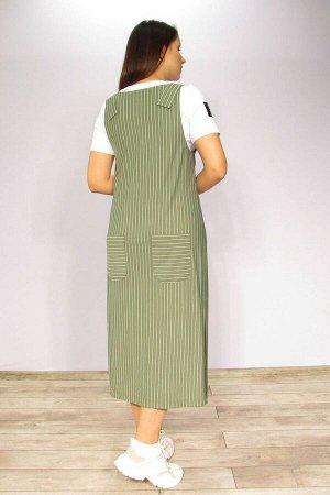Блуза, сарафан LUXTEX 1319 зеленый