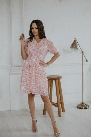 Платье Temper 405 розовые_цветы