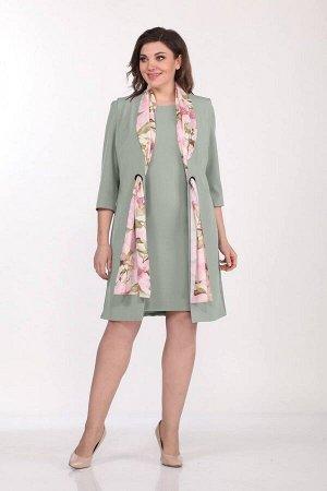 Жакет, платье Vilena 598 светлая_полынь
