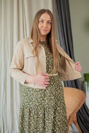 Куртка, платье Karina deLux B-284А хаки-беж