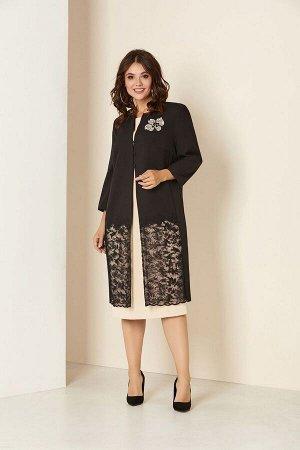 Кардиган, платье Andrea Style 00294 ваниль