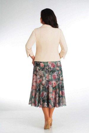Жакет, платье Slaviaelit 166-2 пионы