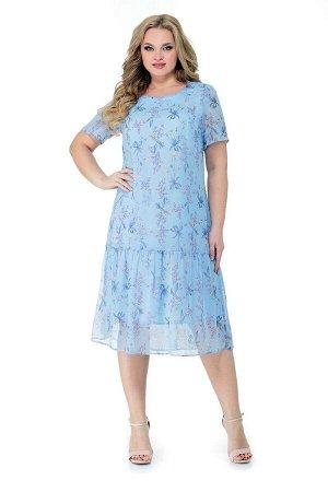 Жакет, платье Мишель стиль 952 голубой