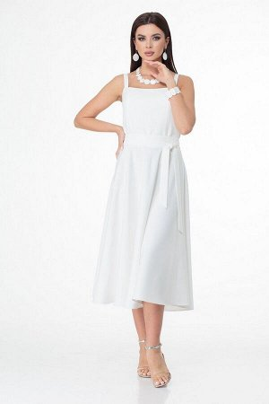 Жакет, платье T&N 7028 василек-белый