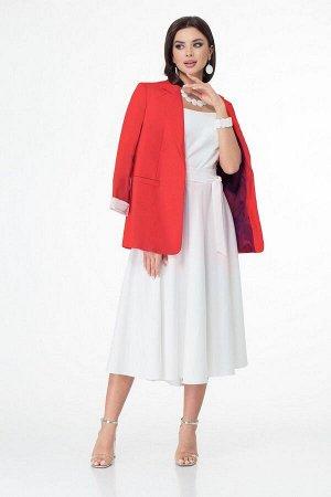 Жакет, платье T&N 7028 красный-белый