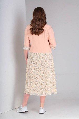 Жакет, платье Viola Style 5488 розовый