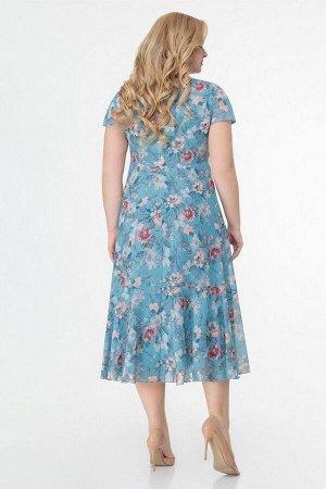Жакет, платье Slaviaelit 166-2 голубой
