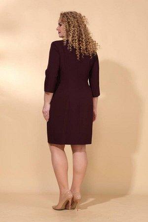 Платье, жакет Vilena 598 баклажан