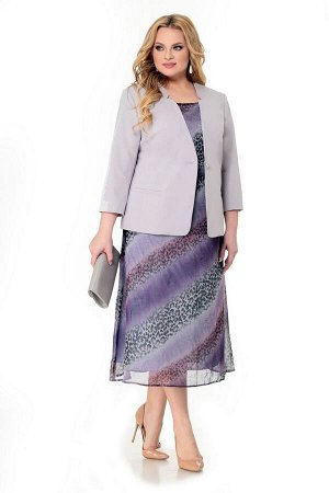 Жакет, платье Мишель стиль 918/1 лавандовый